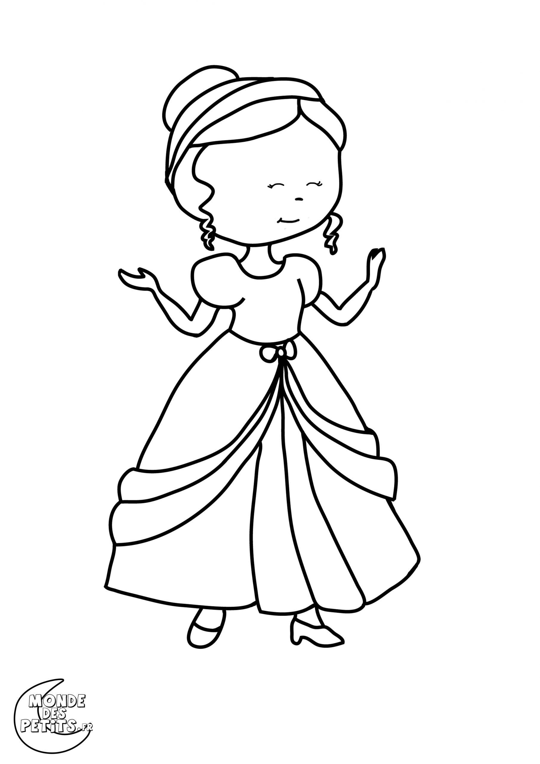 Dessin De Princesse Gratuit À Imprimer Et Colorier serapportantà Princesse À Colorier Gratuit