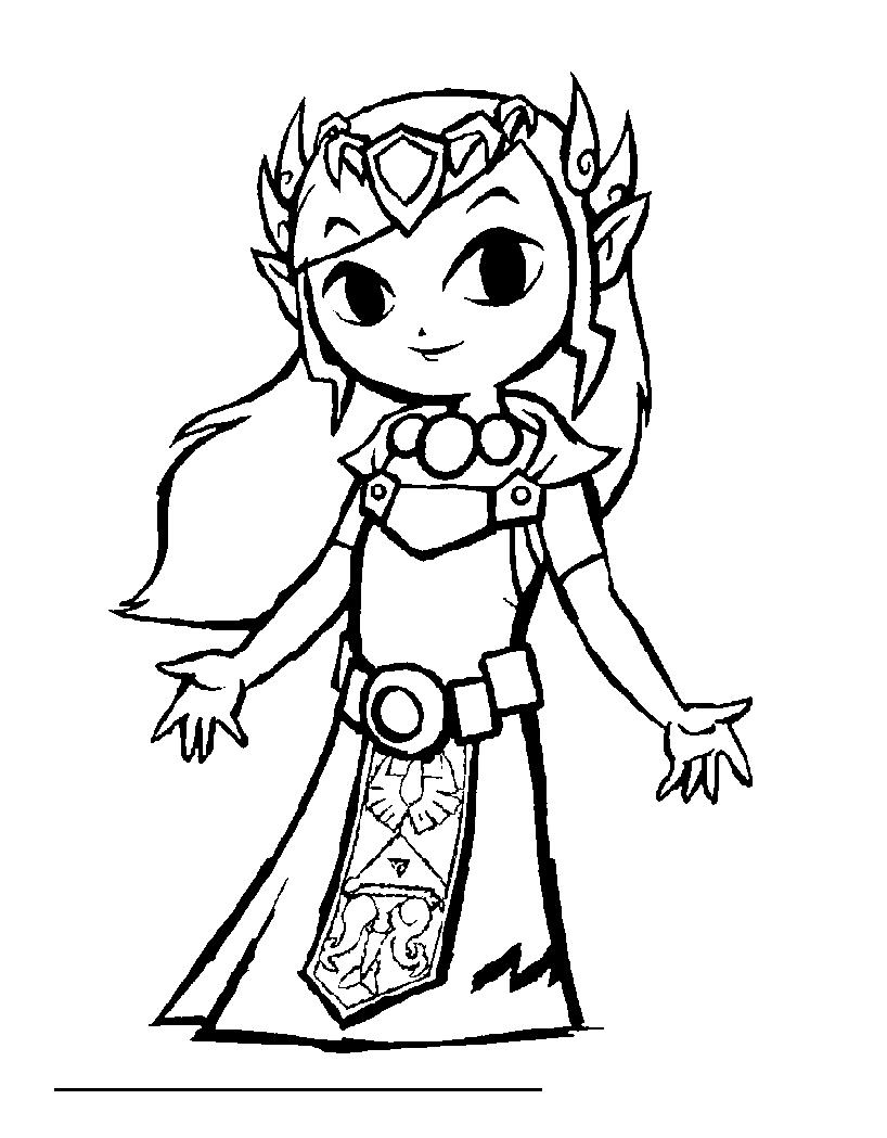 Dessin De Zelda Gratuit À Imprimer Et Colorier - Coloriage tout Jeux Gratuit De Dessin A Colorier