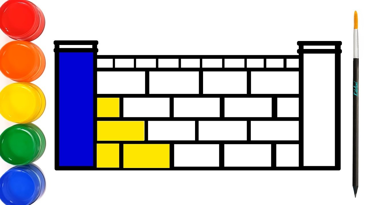 Dessin Et Colorige Un Mur De Briques - Apprendre Les Couleurs Pour Bébés |  Ooh La La ☆ encequiconcerne Brique Pour Bebe