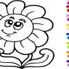 Dessin Facile! Dessin Fleur! Dessiner Et Colorier! Coloriage avec Coloriage Magique Pour Enfant