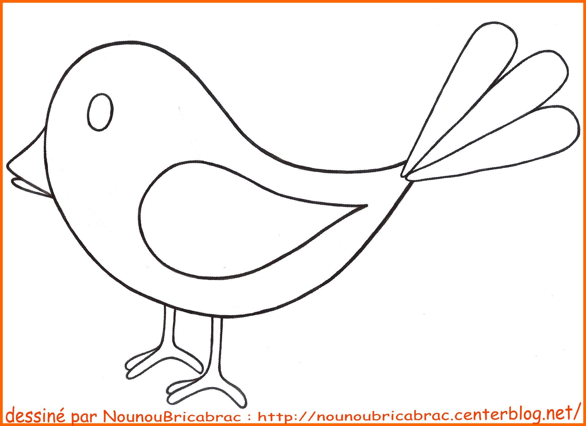 Dessin Facile Oiseau Picture | Oiseau Coloriage, Coloriage serapportantà Image Facile A Reproduire
