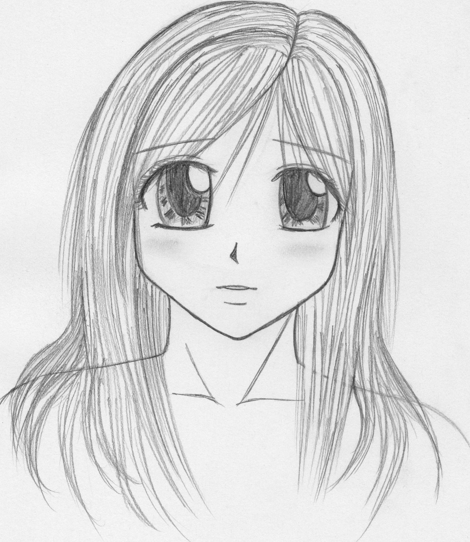 Dessin Fille Style Shojo - Makiu No Sekai intérieur Dessin Facile Pour Fille