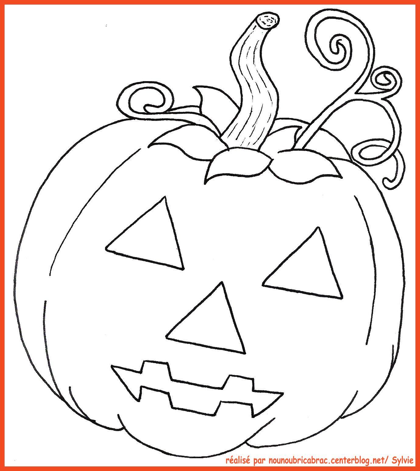 Dessin Halloween Pour Grand dedans Dessin Halloween Citrouille A Imprimer Gratuit