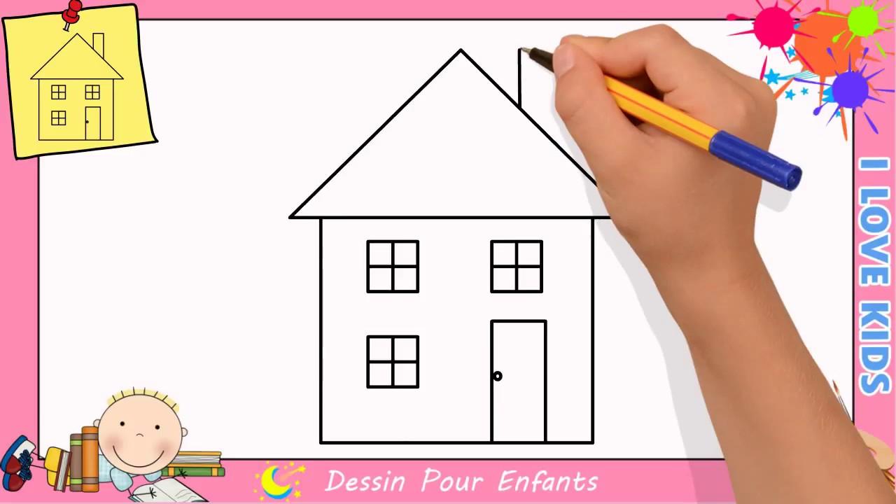 Dessin Maison Facile Etape Par Etape - Comment Dessiner Une Maison 5 destiné Dessin Facile Pour Enfant