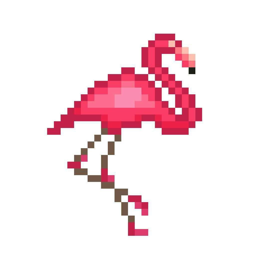 Dessin Pixel Flamant Rose | Фламинго tout Pixel Art Flamant Rose
