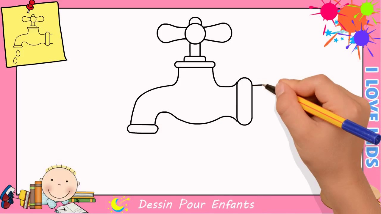 Dessin Robinet Facile - Comment Dessiner Un Robinet Facilement 3 destiné Dessin Facile Pour Enfant