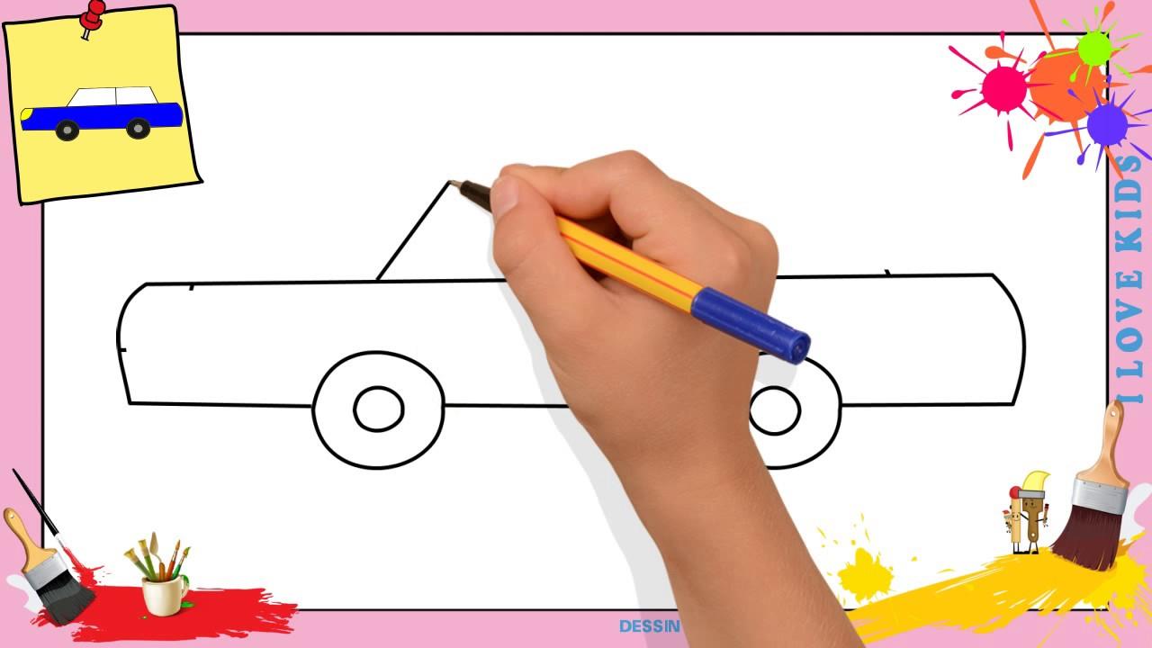 Dessin Voiture 3 - Comment Dessiner Une Voiture Facilement Etape Par Etape  Pour Enfants encequiconcerne Dessiner Une Voiture Facile