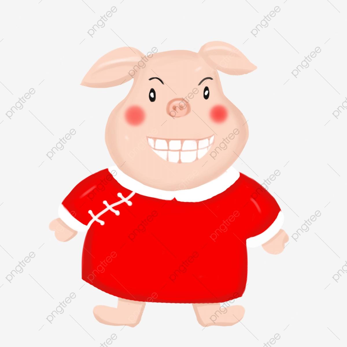 Dessiné À La Main Couleur Année Cochon Dessin Animé à Dessin De Cochon En Couleur