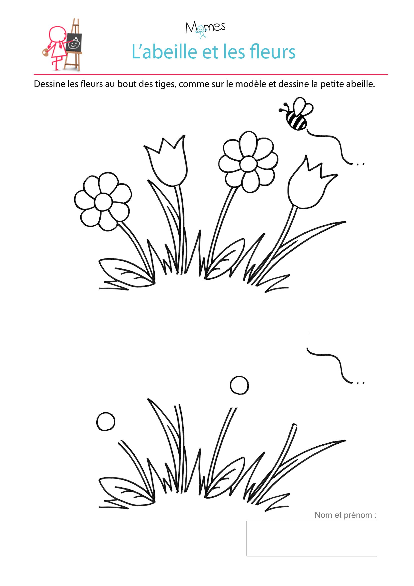 Dessiner Les Fleurs - Momes dedans Apprendre À Dessiner En Maternelle
