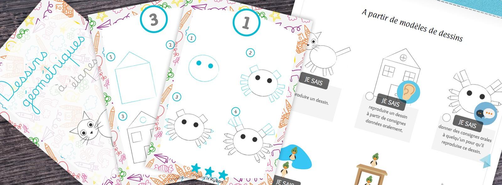 Dessins À Étapes Avec Des Formes Géométriques En Maternelle destiné Image De Dessin A Reproduire