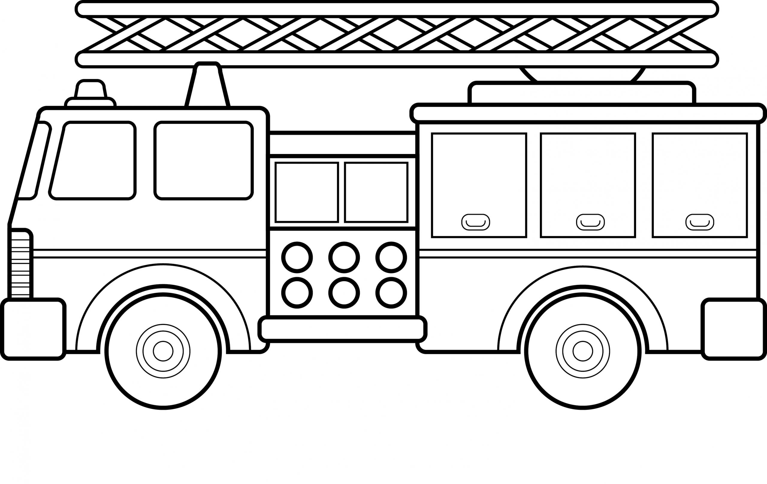 Dessins À Imprimer - Camion De Pompier Sur Play-The tout Coloriage Camion De Pompier Gratuit À Imprimer