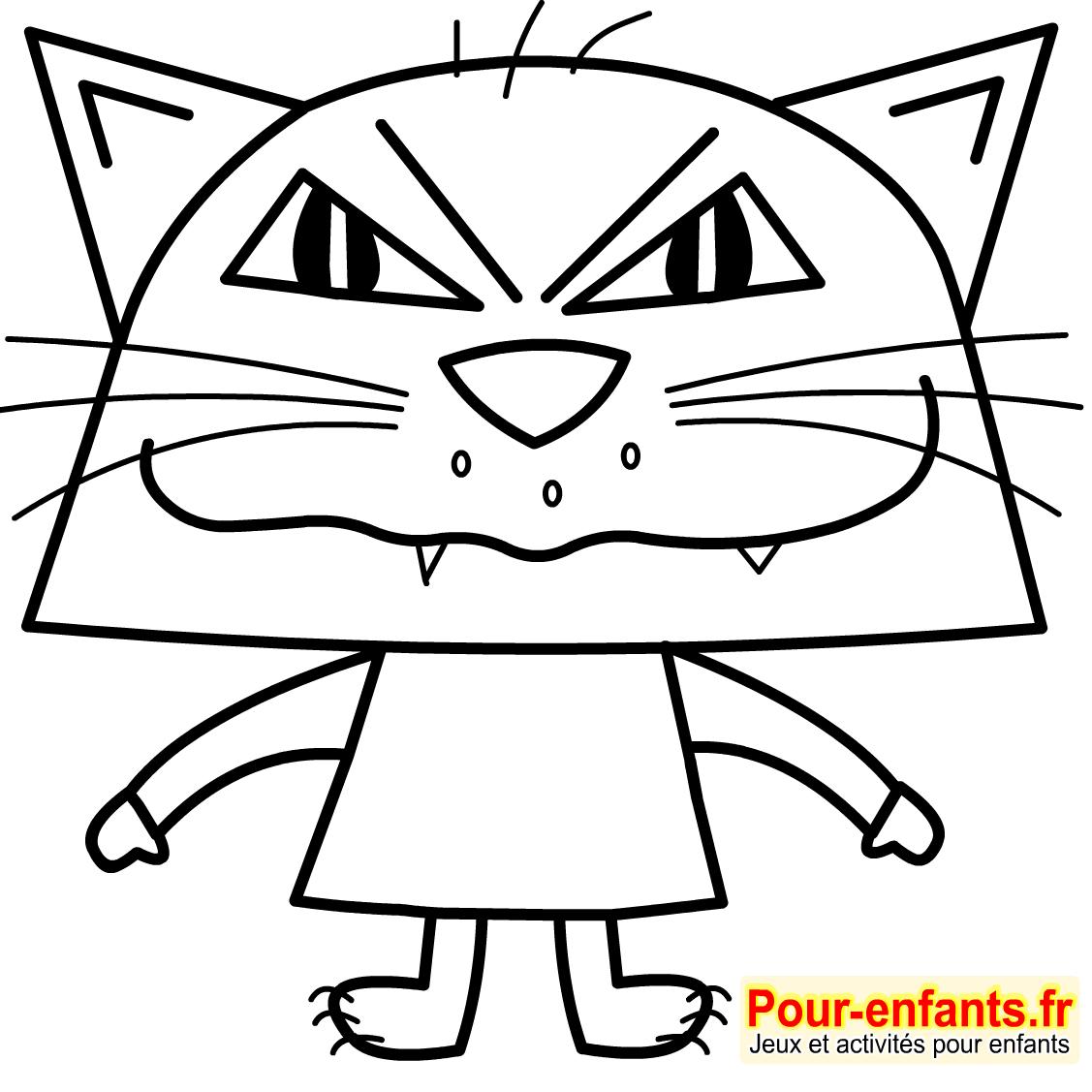 Dessins De Chats Imprimer Dessin Coloriage De Chat Halloween tout Dessin Facile Pour Enfant