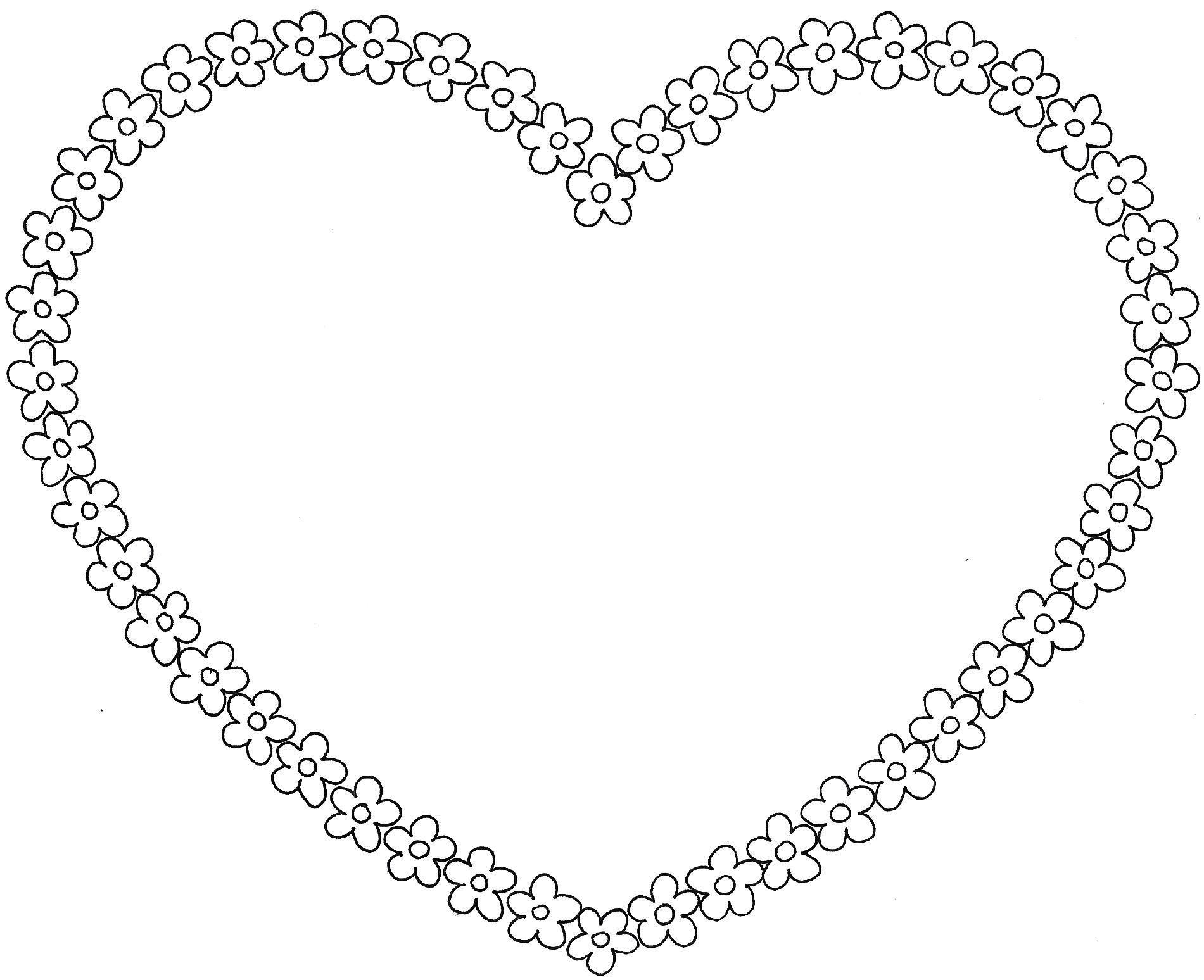Dessins De Coloriage Coeur À Imprimer Pour Modèle De Coeur À intérieur Coeur A Imprimer Et Decouper