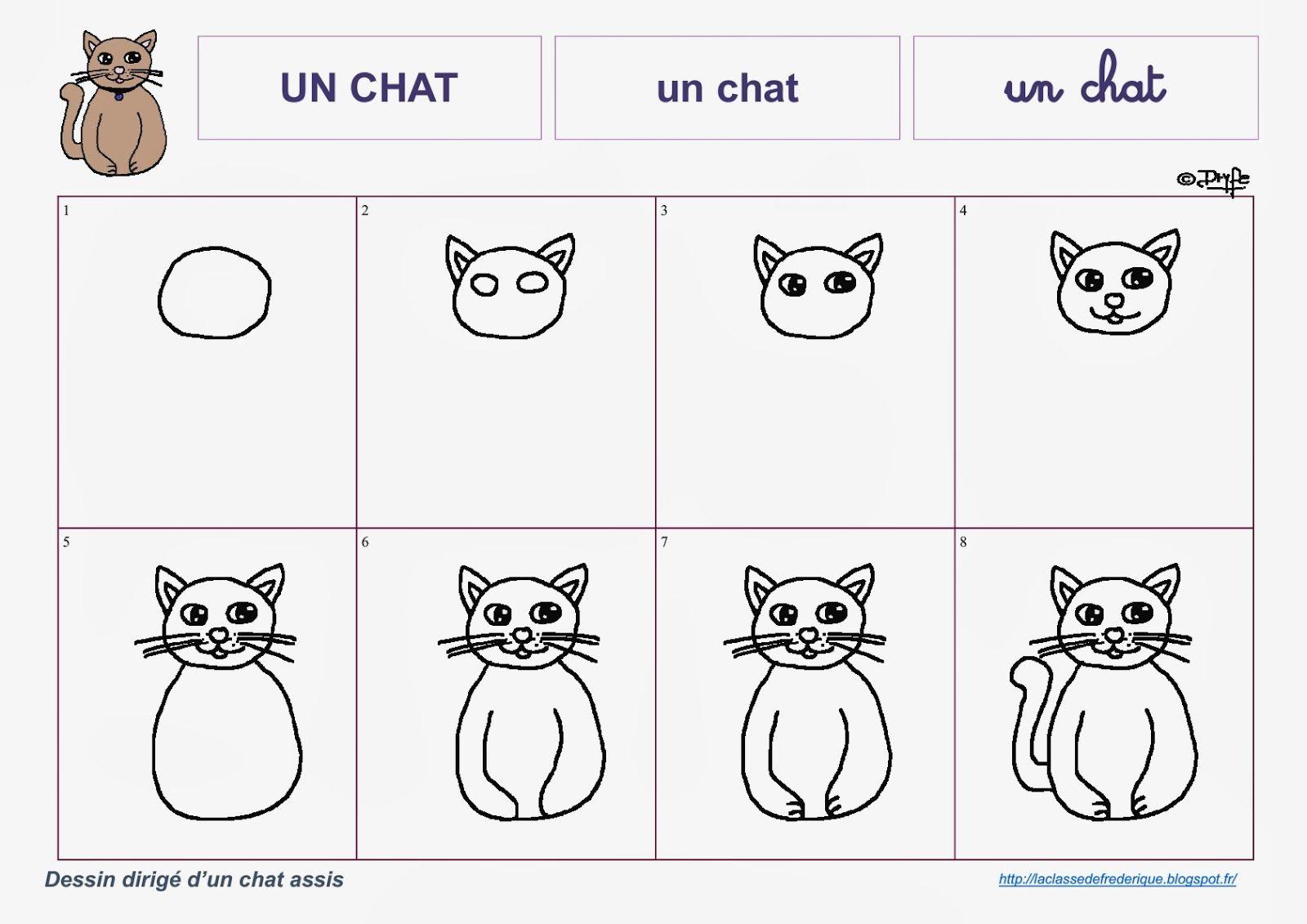 Dessins Dirigés | Apprendre À Dessiner Un Chat, Dessin, Chat encequiconcerne Apprendre À Dessiner En Maternelle