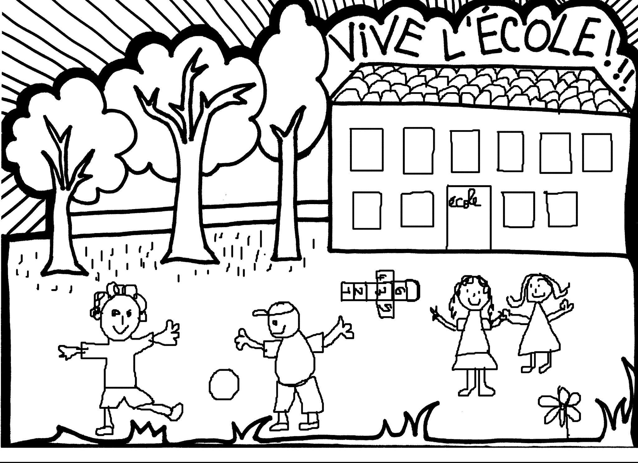 Dessins Gratuits À Colorier - Coloriage Ecole À Imprimer tout Coloriage Classe Maternelle