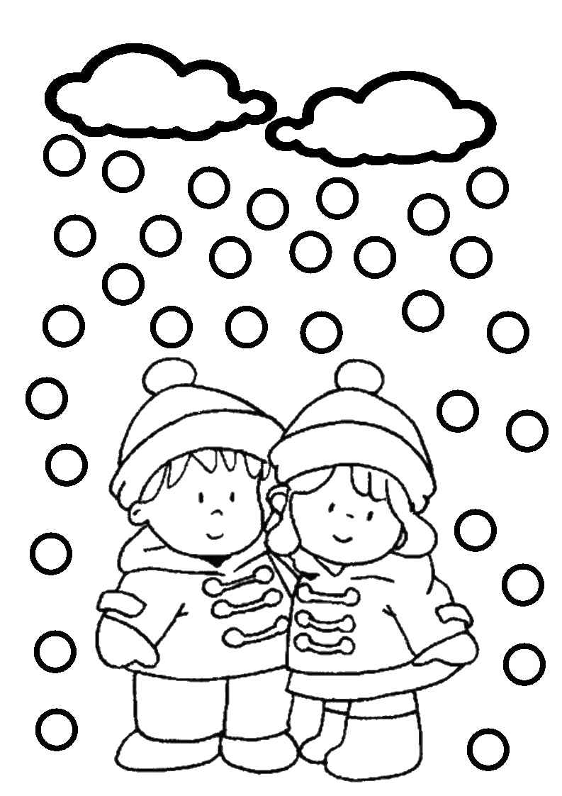 Dessins Gratuits À Colorier - Coloriage Hiver Neige À Imprimer tout Coloriage Hiver Maternelle