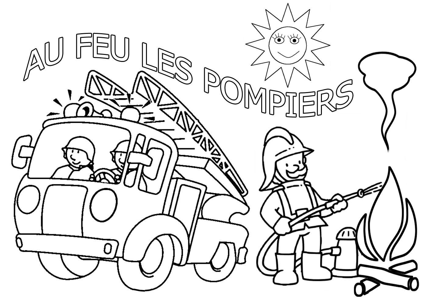 Dessins Gratuits À Colorier - Coloriage Pompier À Imprimer destiné Coloriage Camion De Pompier Gratuit À Imprimer