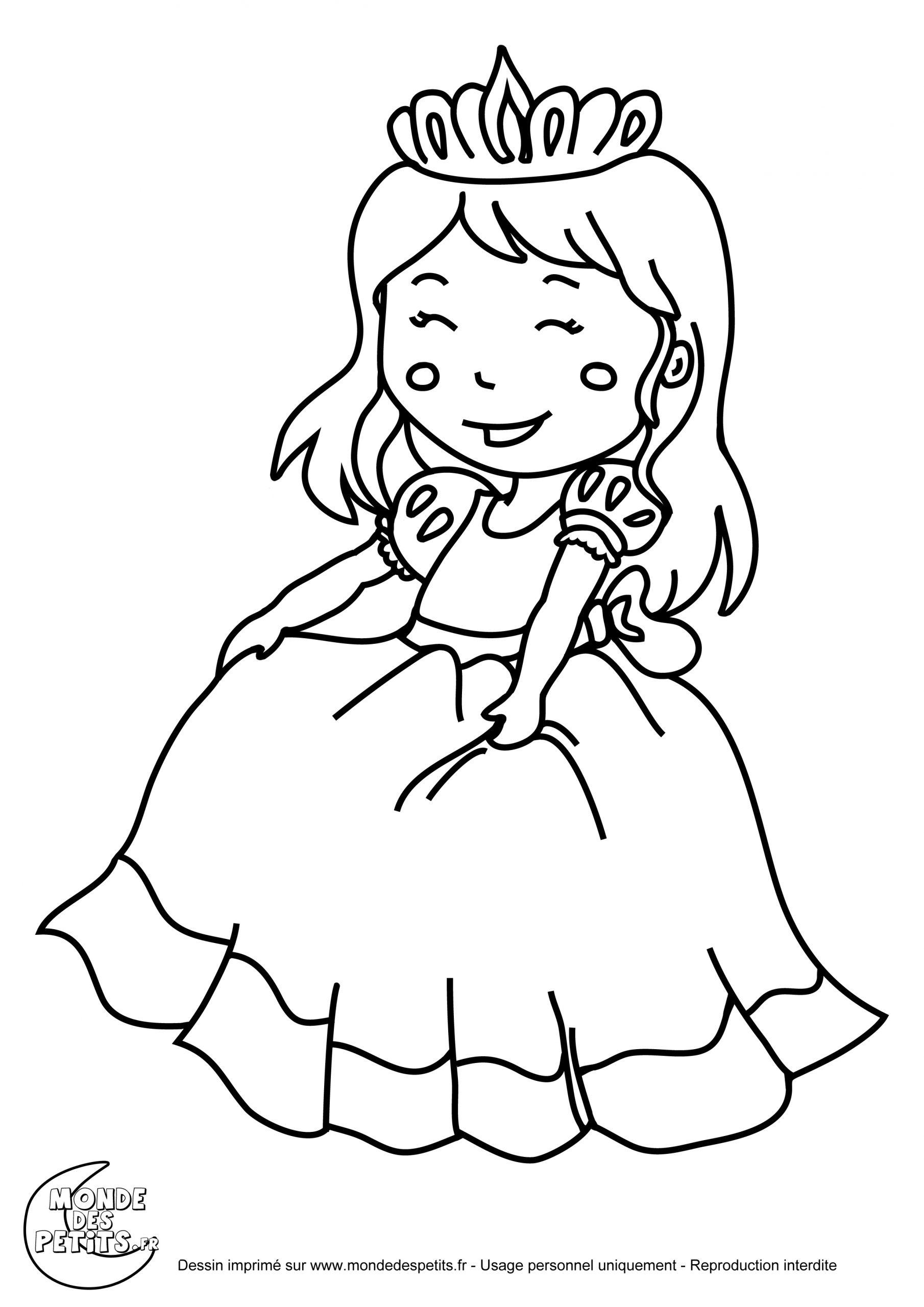Dessins Gratuits À Colorier - Coloriage Princesse À Imprimer tout Princesse À Colorier Gratuit