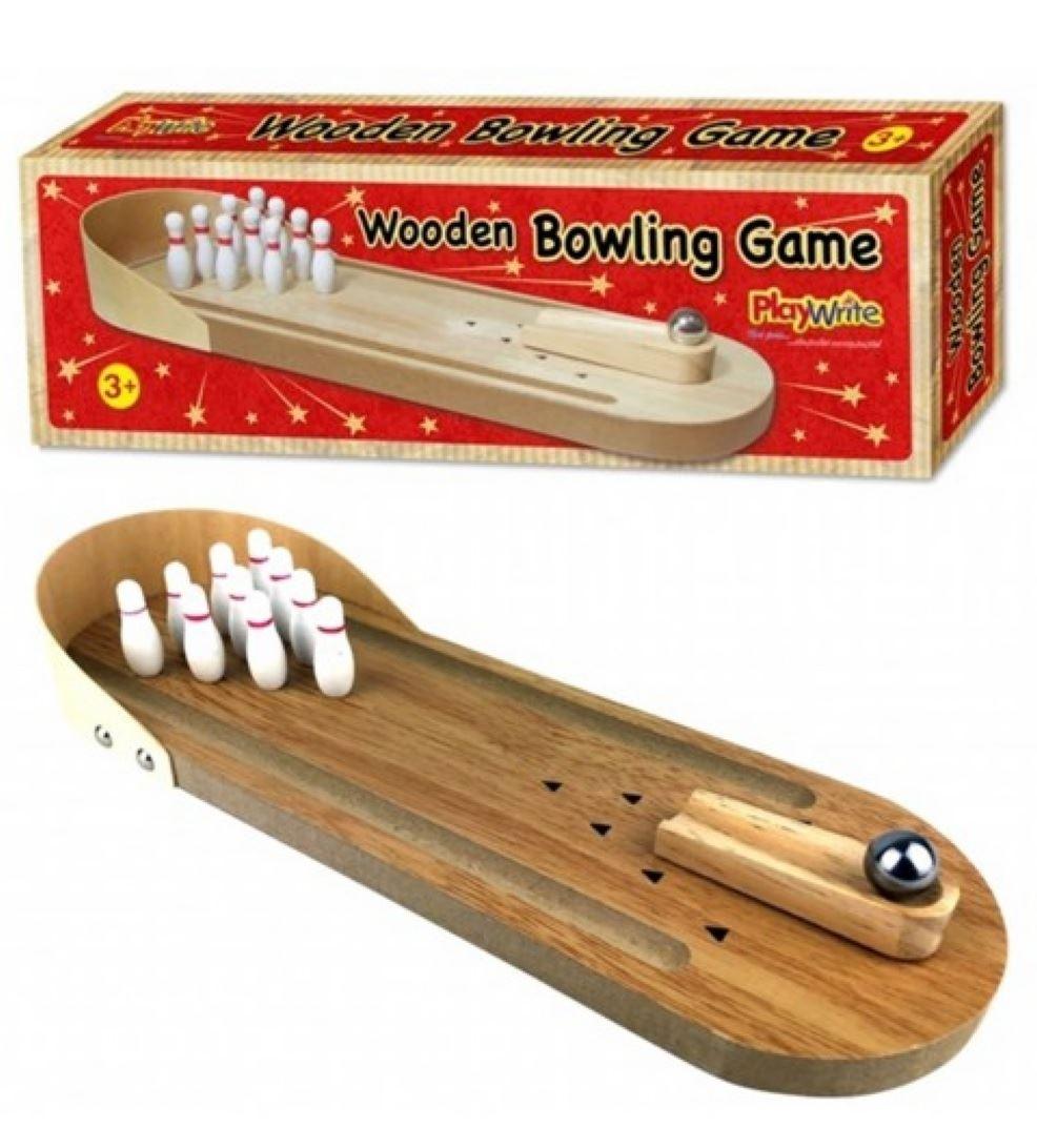 Details About Bois Bowling Jeu Enfants Skittles Amusant avec Jeu Bowling Enfant