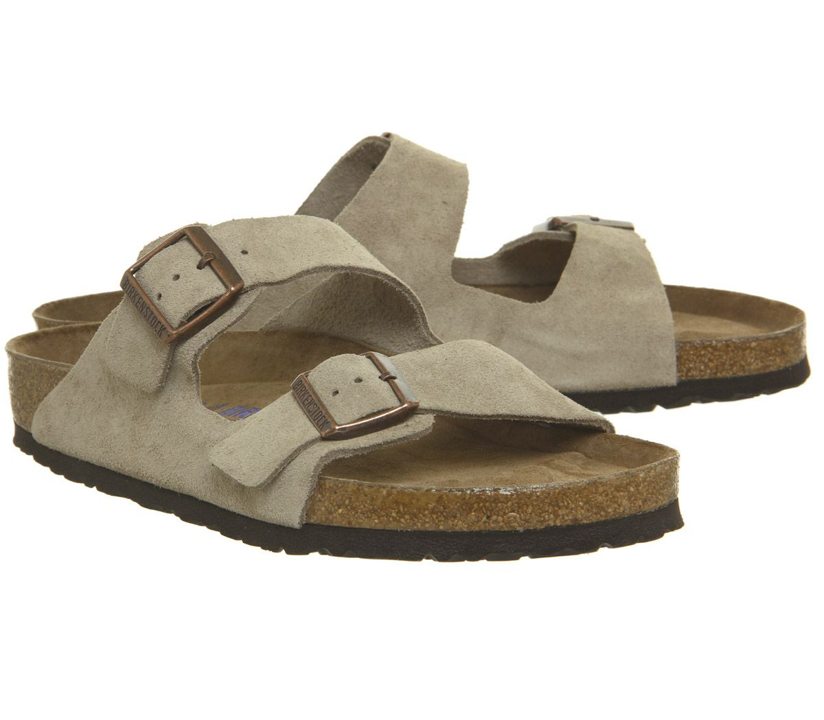 Details About Men Birkenstock Arizona Two Strap Sandals Taupe Sandals- Show  Original Title à Code Couleur Taupe