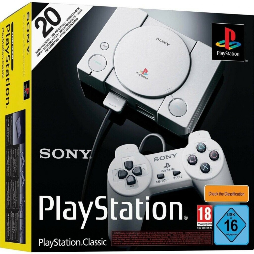 Details About Sony Playstation Ps1 Classic Incl. 2 Controllers Retro  Console New serapportantà Jeux Flash A 2