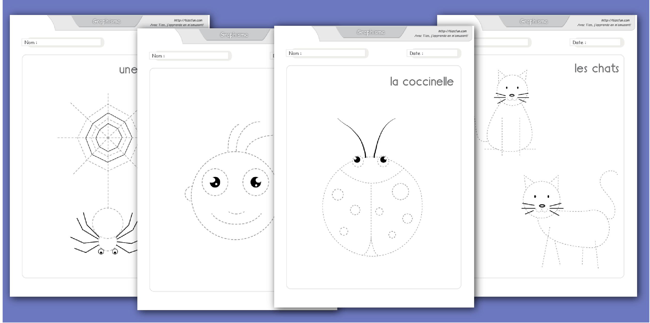 Développer La Motricité Fine Par La Pratique Du Dessin avec Exercice De Graphisme Petite Section A Imprimer
