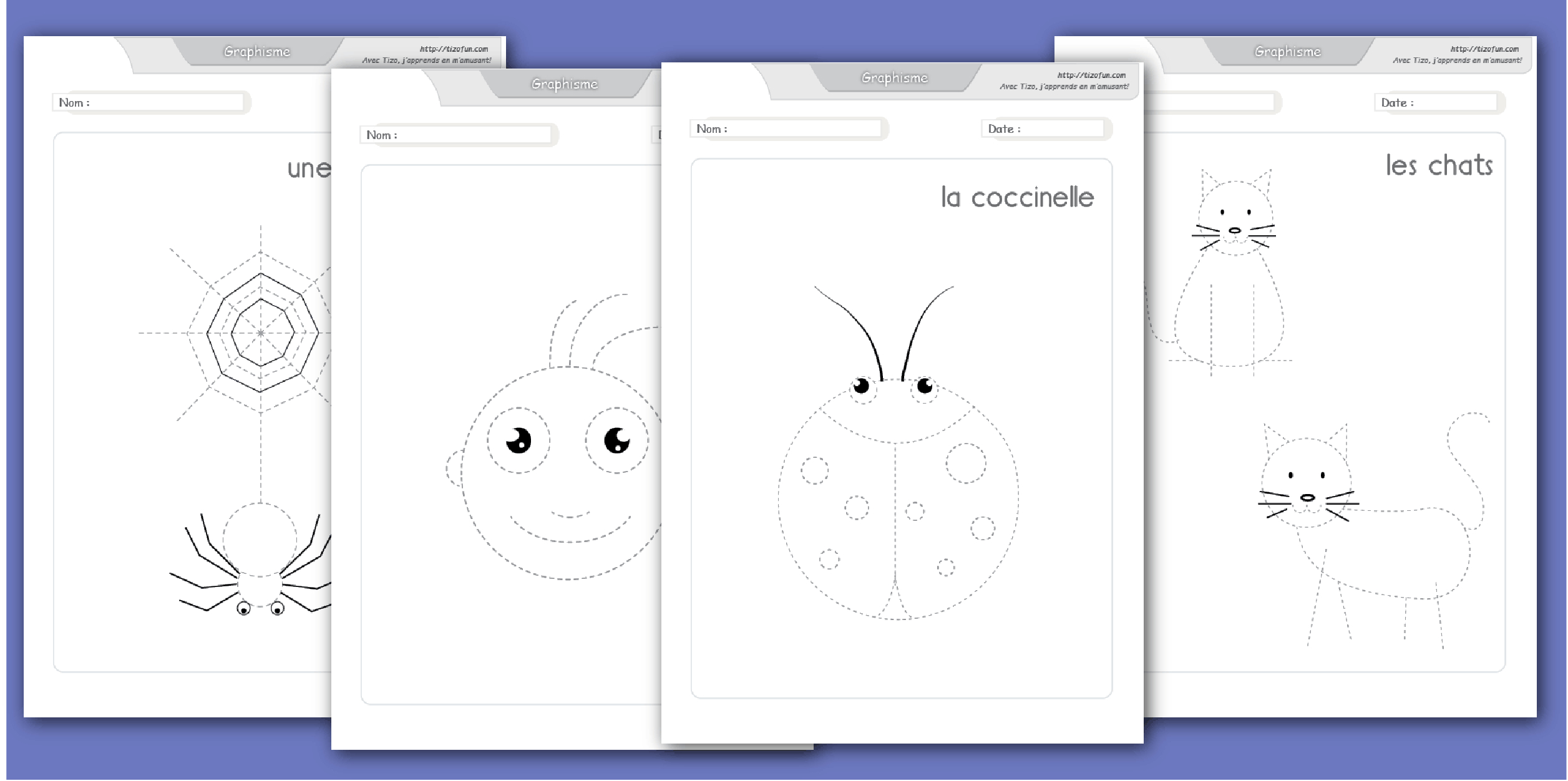 Développer La Motricité Fine Par La Pratique Du Dessin intérieur Exercice Graphisme Moyenne Section