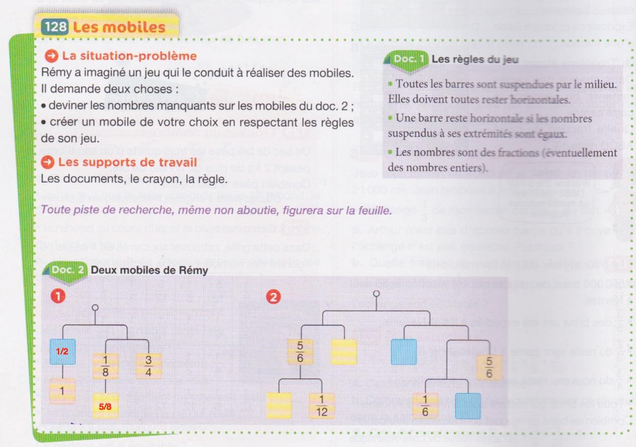 Devoir De Maths - Rémy Et Ses Mobiles | Digischool Devoirs concernant Jeux De Exercice De Maths