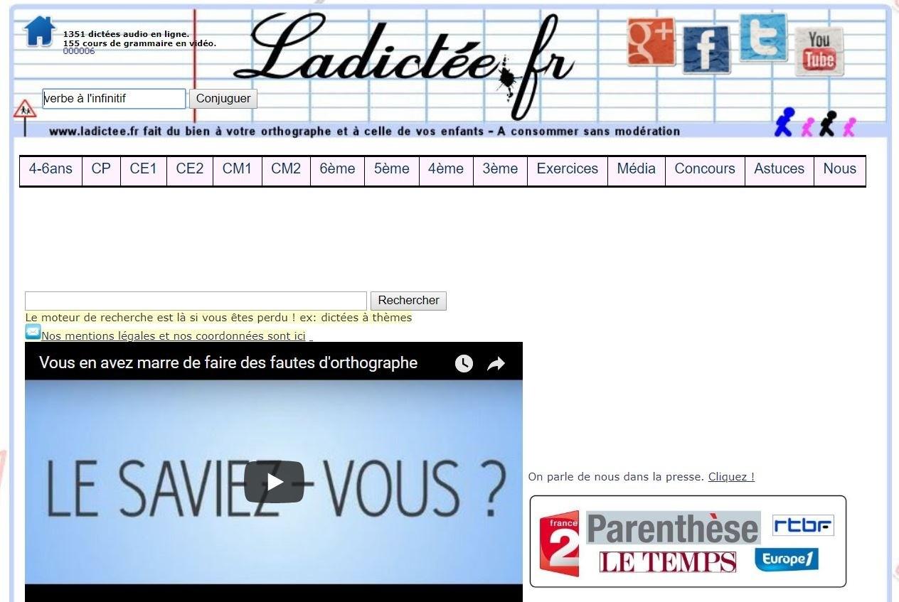 Dictées Audio En Ligne, Devenez Des As En Français - Thot Cursus intérieur Exercice Ce2 En Ligne Gratuit