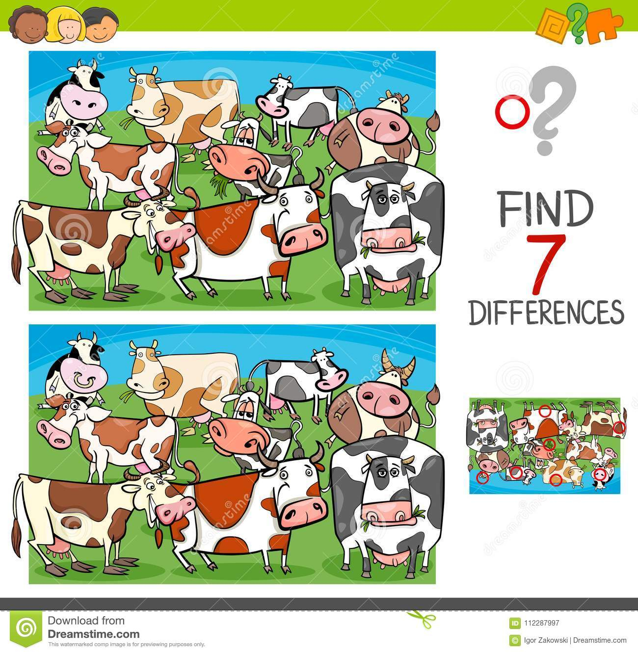 Différences De Découverte Avec Des Caractères D'animal De pour Jeu Sur Les Animaux De La Ferme