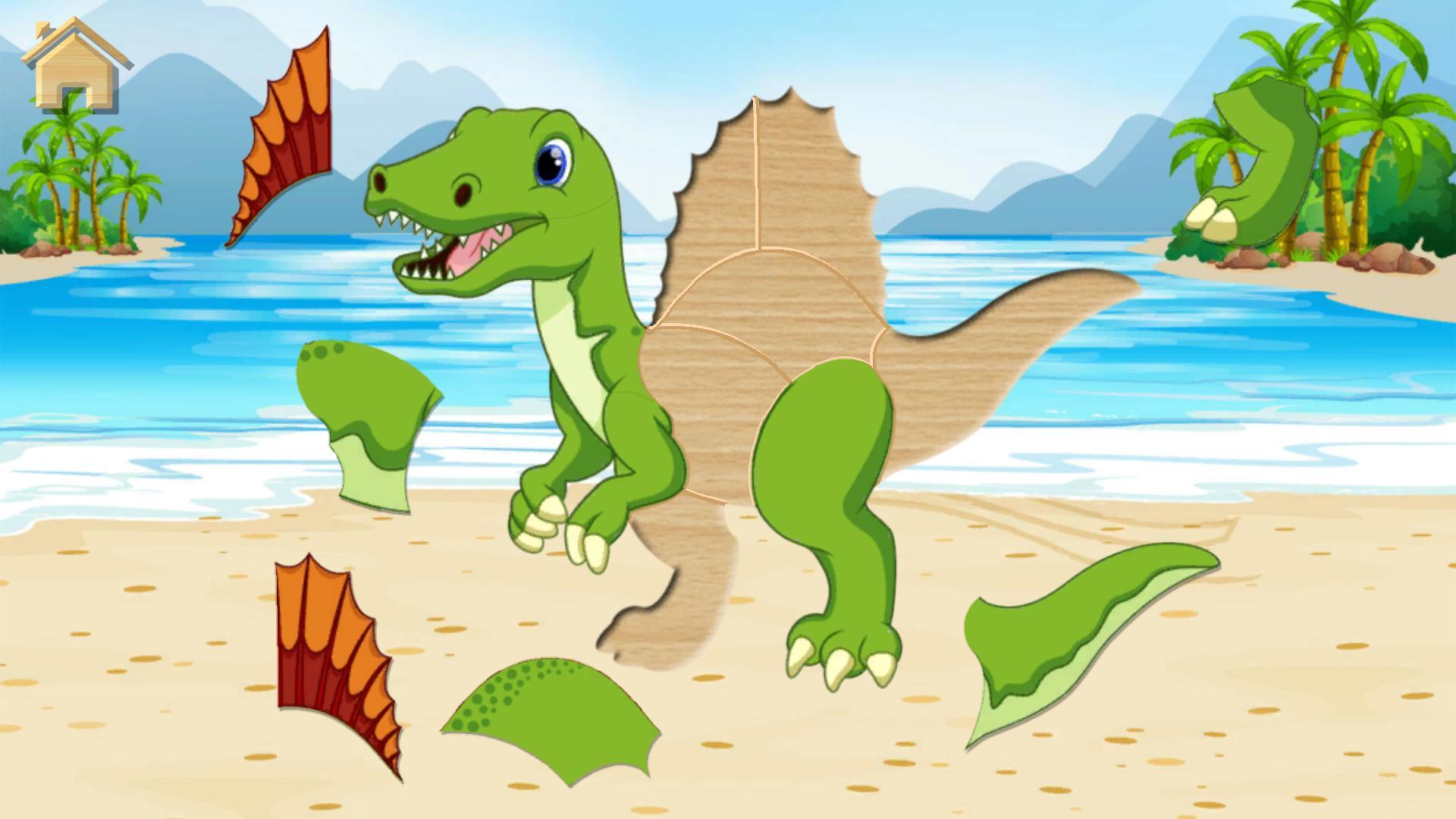 Dino Puzzle - Jeux Educatif Gratuit Pour Android pour Puzzle Facile Gratuit