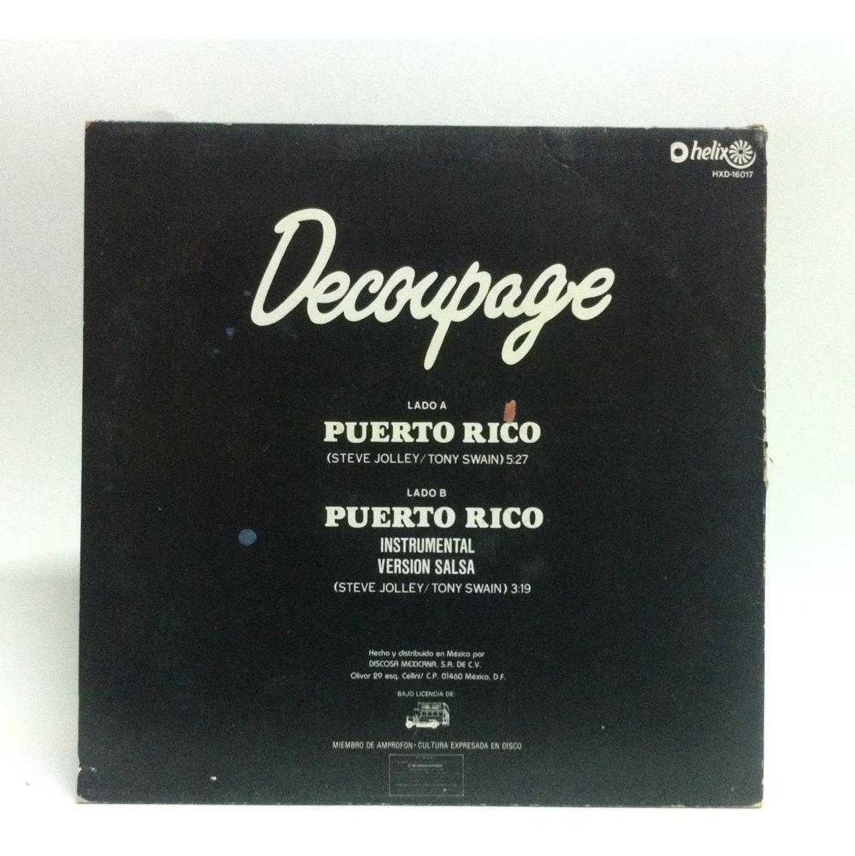 Disco De Vinil Decoupage Puerto Rico - $ 220.00 dedans Découpage Cp