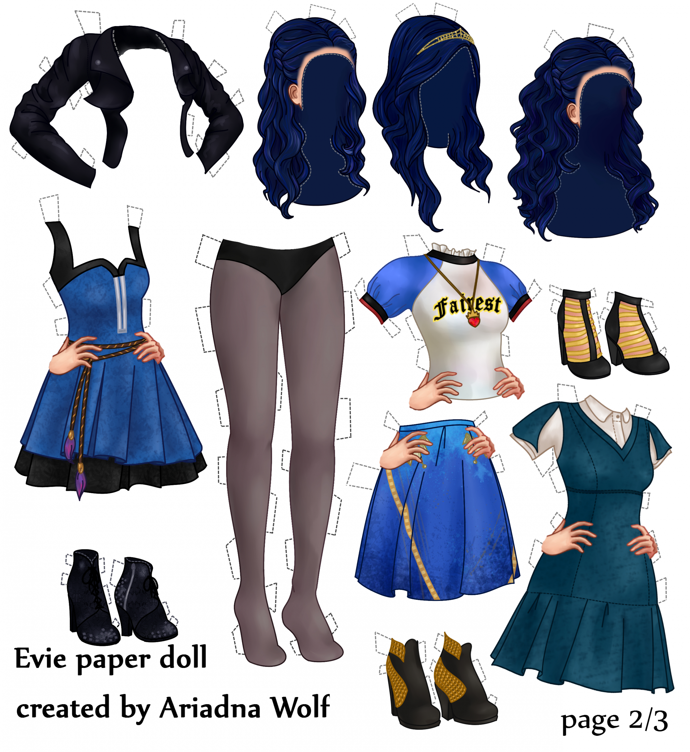Disney Descendants Evie Paper Doll | Salle De Jeux, Dessin serapportantà Jeux De Descendants