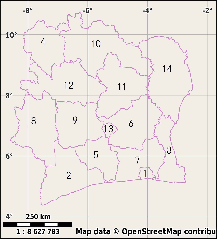 Districts Of Ivory Coast - Wikiwand tout Le Nouveau Découpage Des Régions