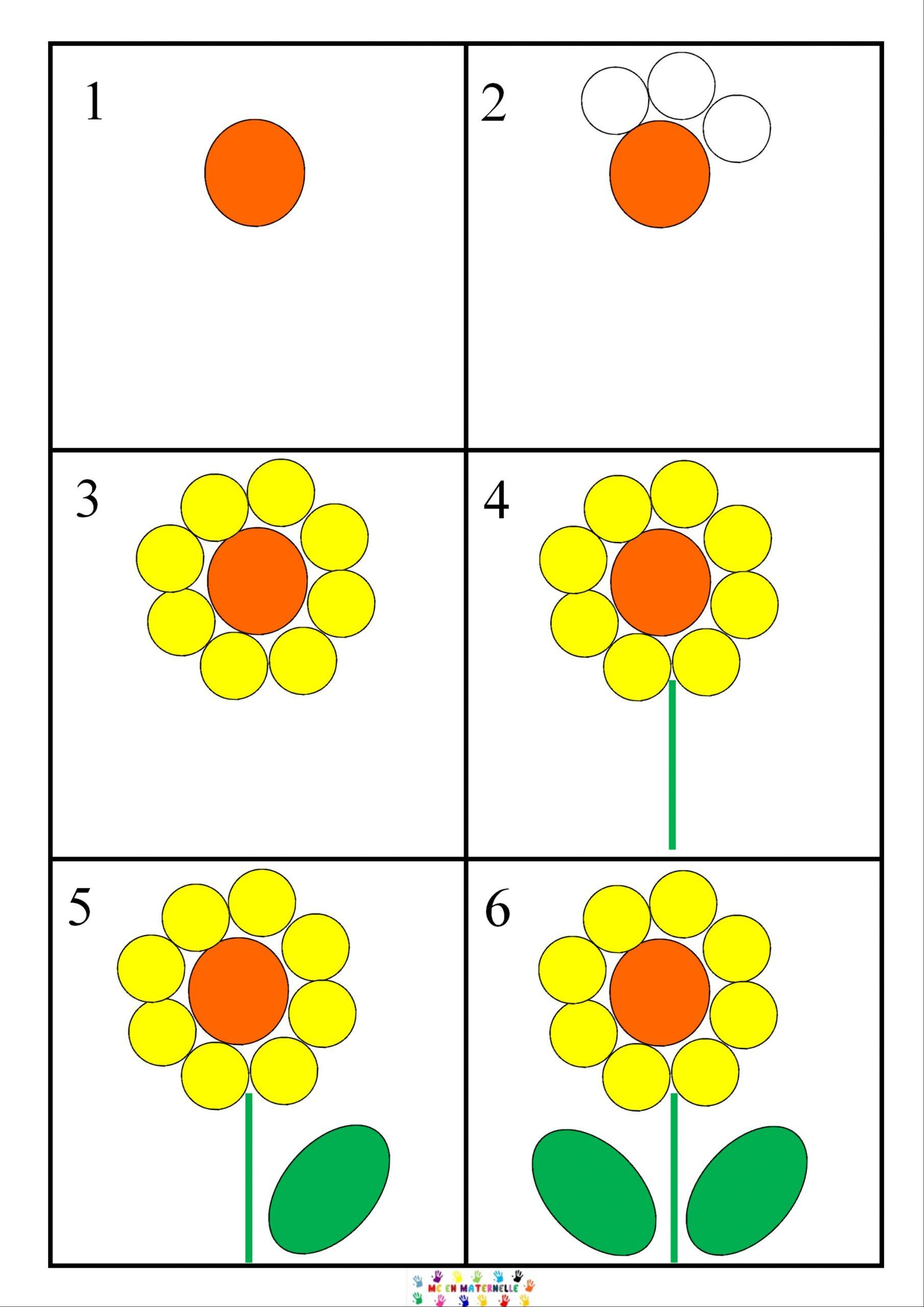 Dix Petites Graines : Dessiner Une Fleur Pas À Pas – Mc En concernant Apprendre À Dessiner En Maternelle
