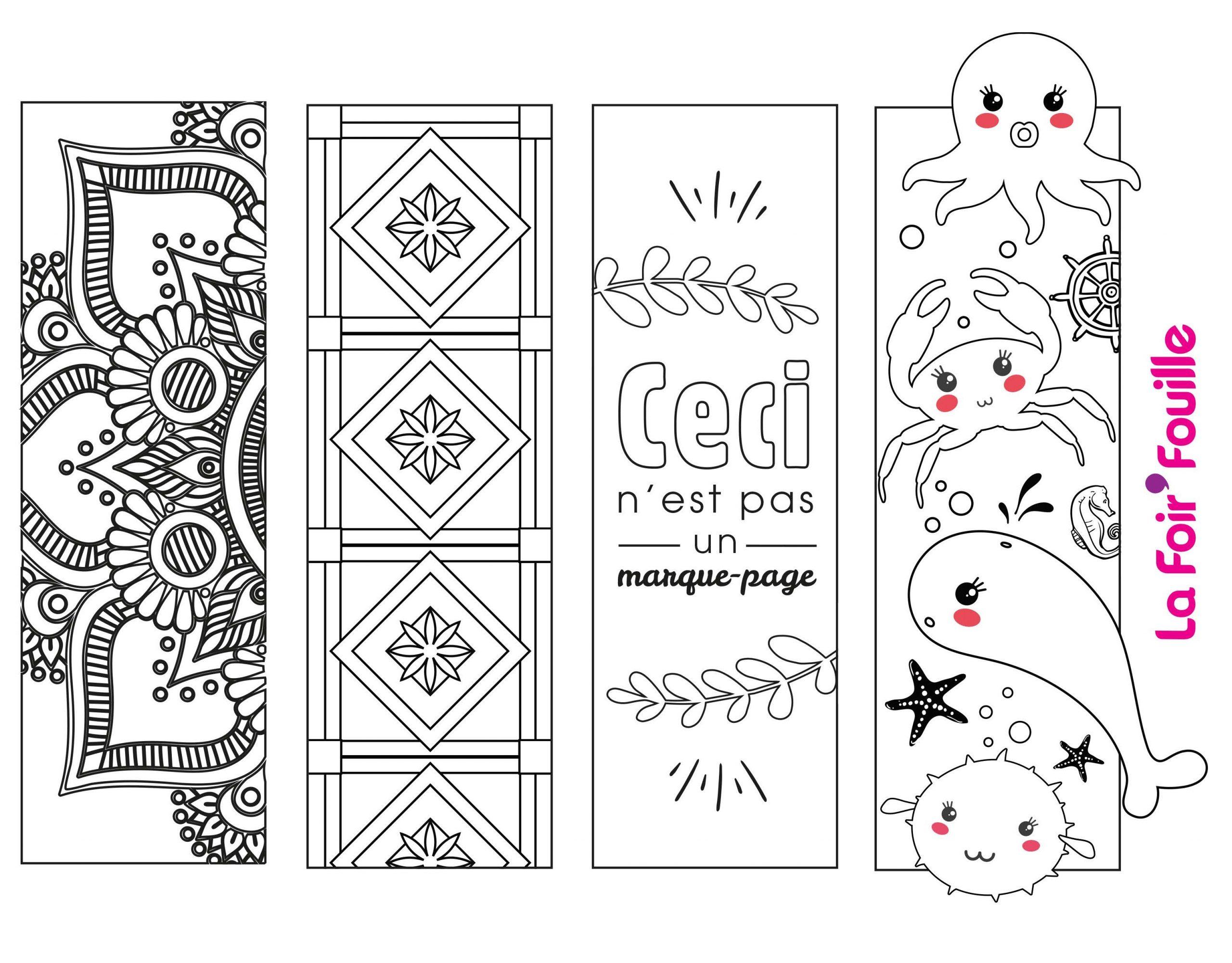 Diy : 4 Marque-Pages À Imprimer Et À Colorier   Blog La tout Marque Page À Colorier