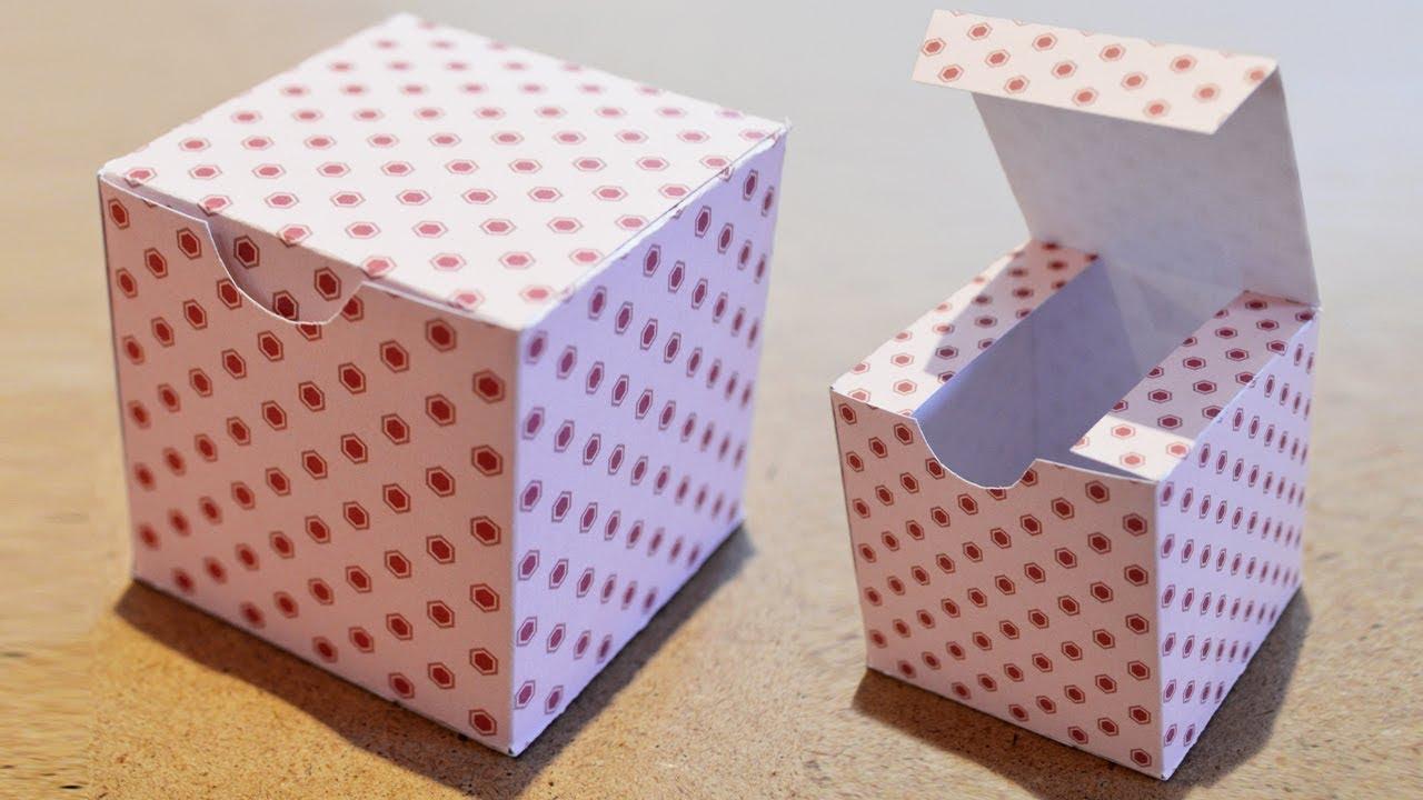 Diy Boite Cadeau En Papier - Comment Faire Une Boite Carrée serapportantà Gabarit Boite En Papier