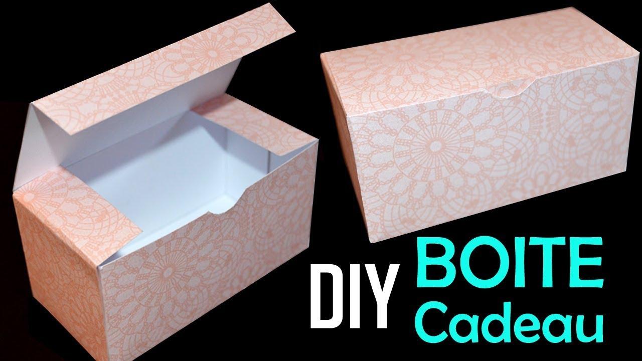Diy Boite Cadeau En Papier - Comment Faire Une Boite Rectangulaire pour Gabarit Boite En Papier