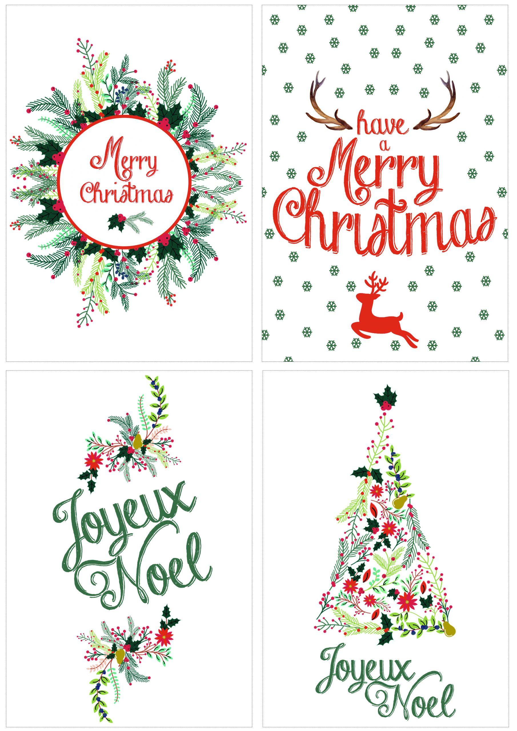 Diy: Cartes De Noël À Télécharger - Dorothée Lafontaine dedans Ecriture De Noel A Imprimer