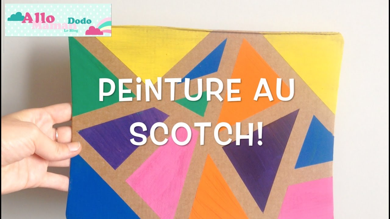 Diy Enfants: La Peinture Au Scotch, Activité Facile Et Sympa! avec Activité Simple A Faire