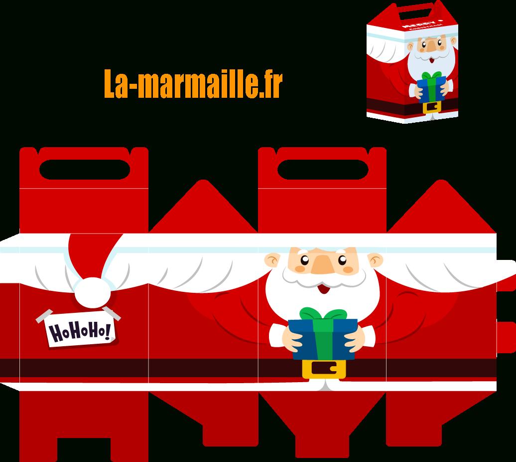Diy Noël : Emballage Cadeau À Imprimer encequiconcerne Pere Noel A Decouper