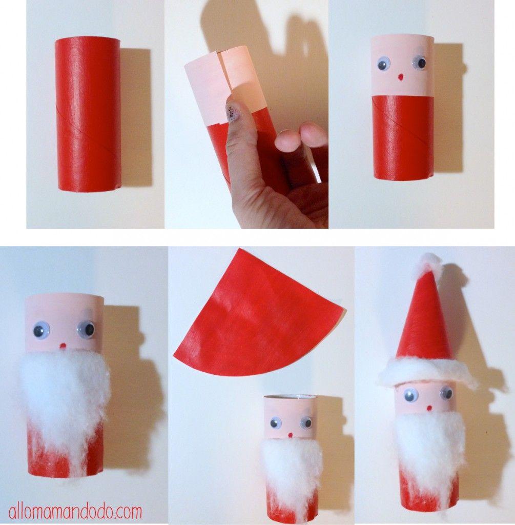 Diy Père Noël, Super Activité Pour Les Enfants! (Rouleau De encequiconcerne Activité Manuel De Noel