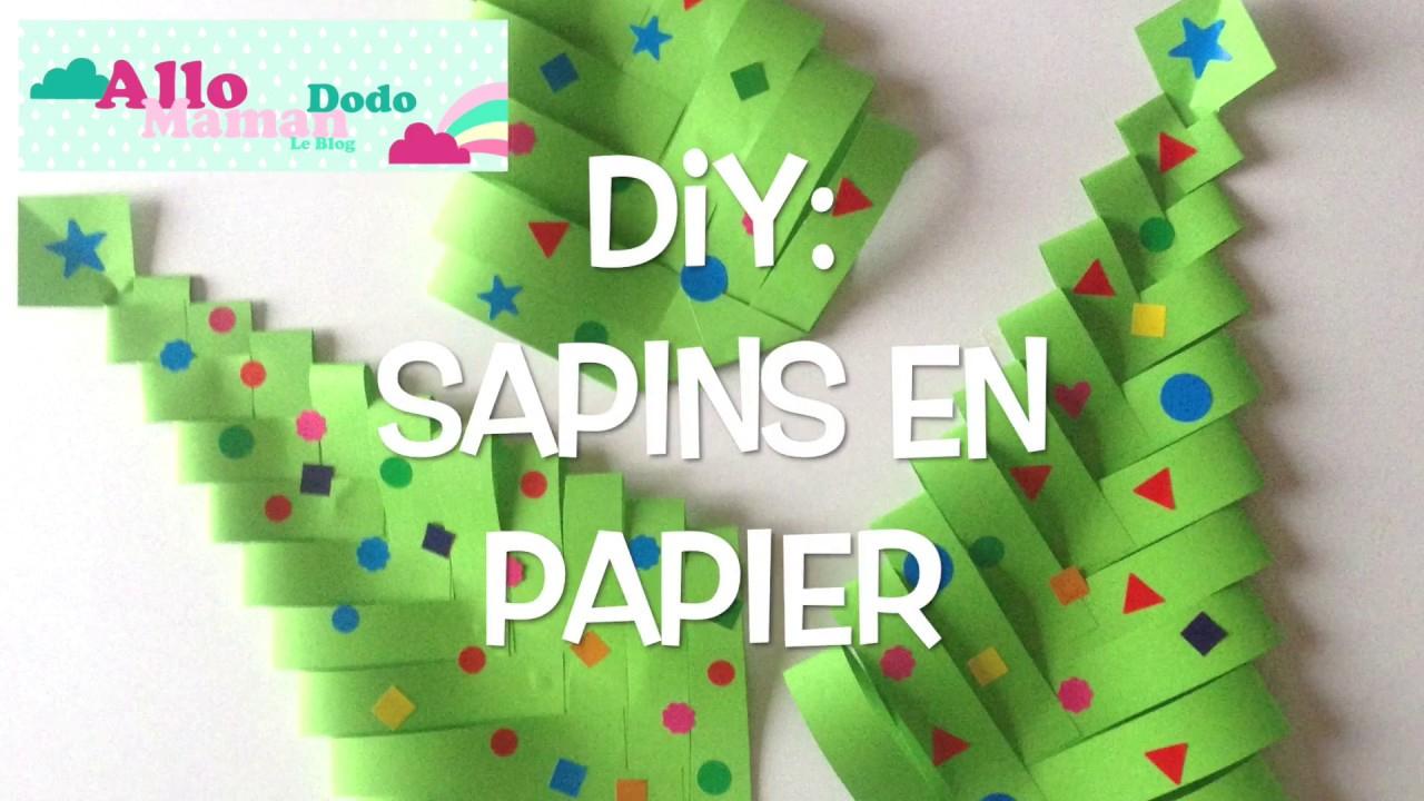 Diy Sapins De Noël En Papier ( Bricolage Facile Pour Noël ) concernant Activité Manuel De Noel