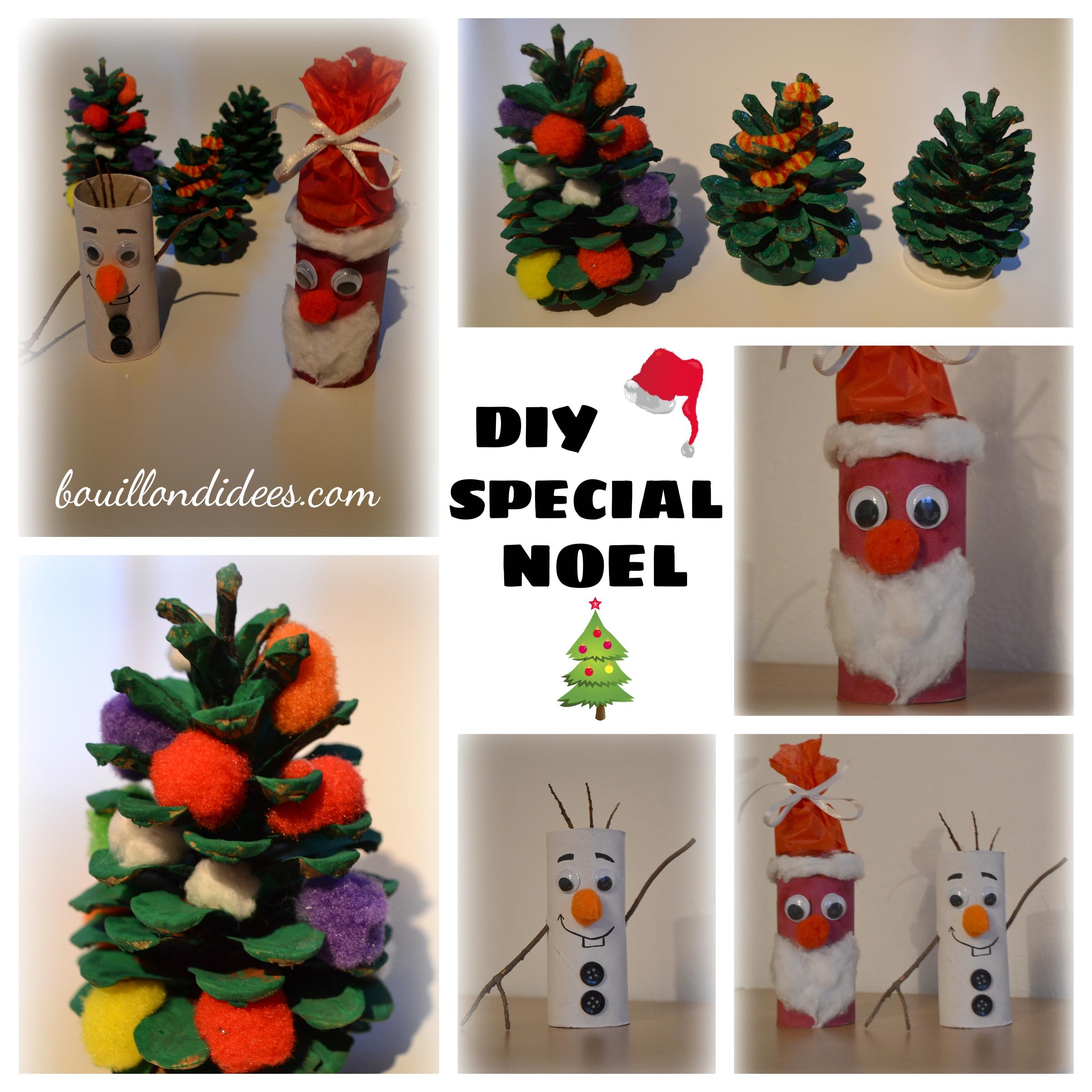 Diy Spécial Noël (Sapin, Père Noël & Olaf Le Bonhomme De Neige) avec Activité Manuelle Noel 3 Ans