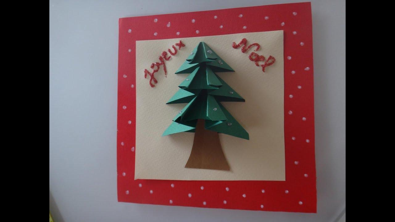 Diy Tuto Carte De Voeux Noël 3D intérieur Activité Manuelle Noel 3 Ans