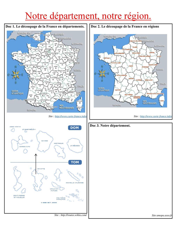Doc 1. Le Découpage De La France En Départements. - Ppt dedans Le Découpage Administratif De La France