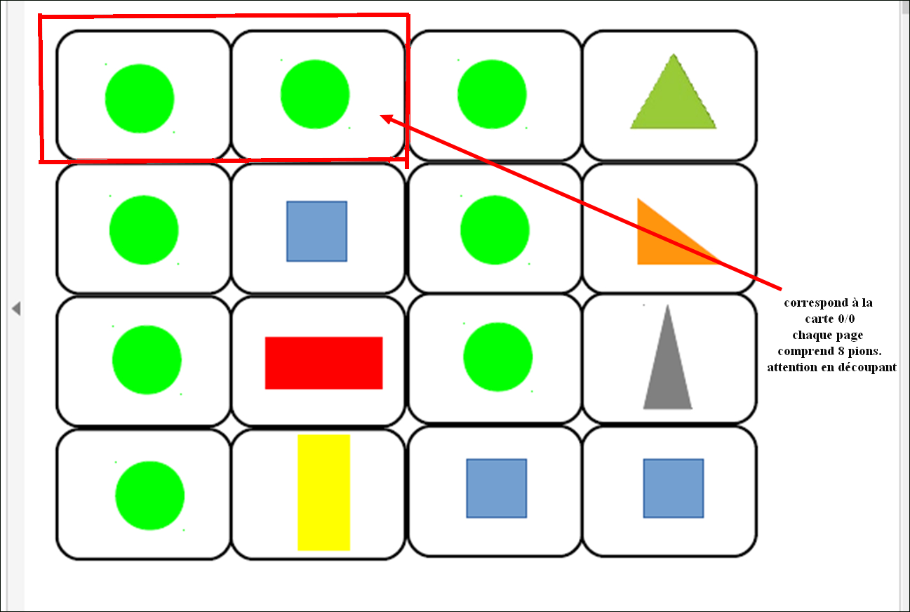 Domino Formes Géométriques - intérieur Formes À Découper Maternelle