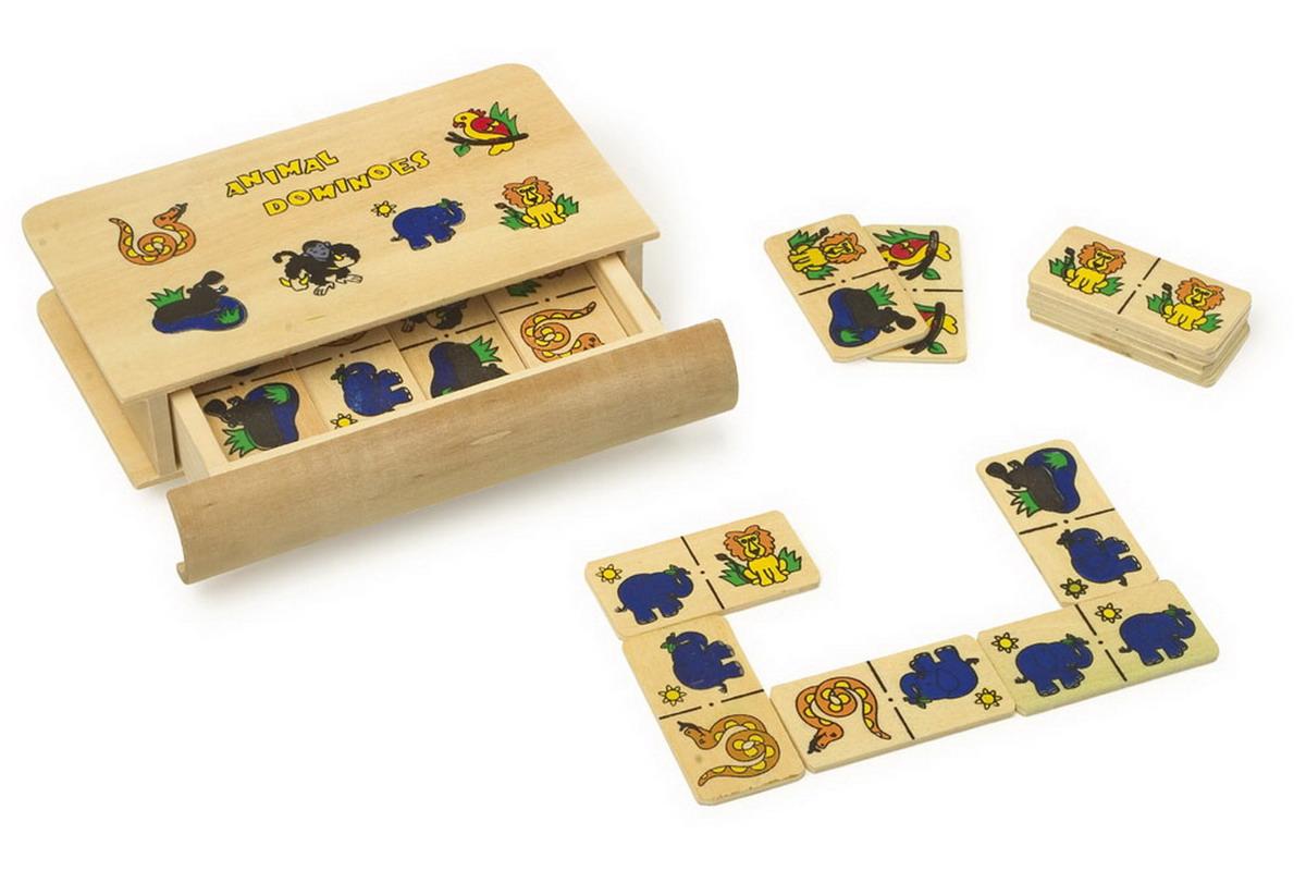 Dominos Des Animaux Sauvages à Jeu Du Domino