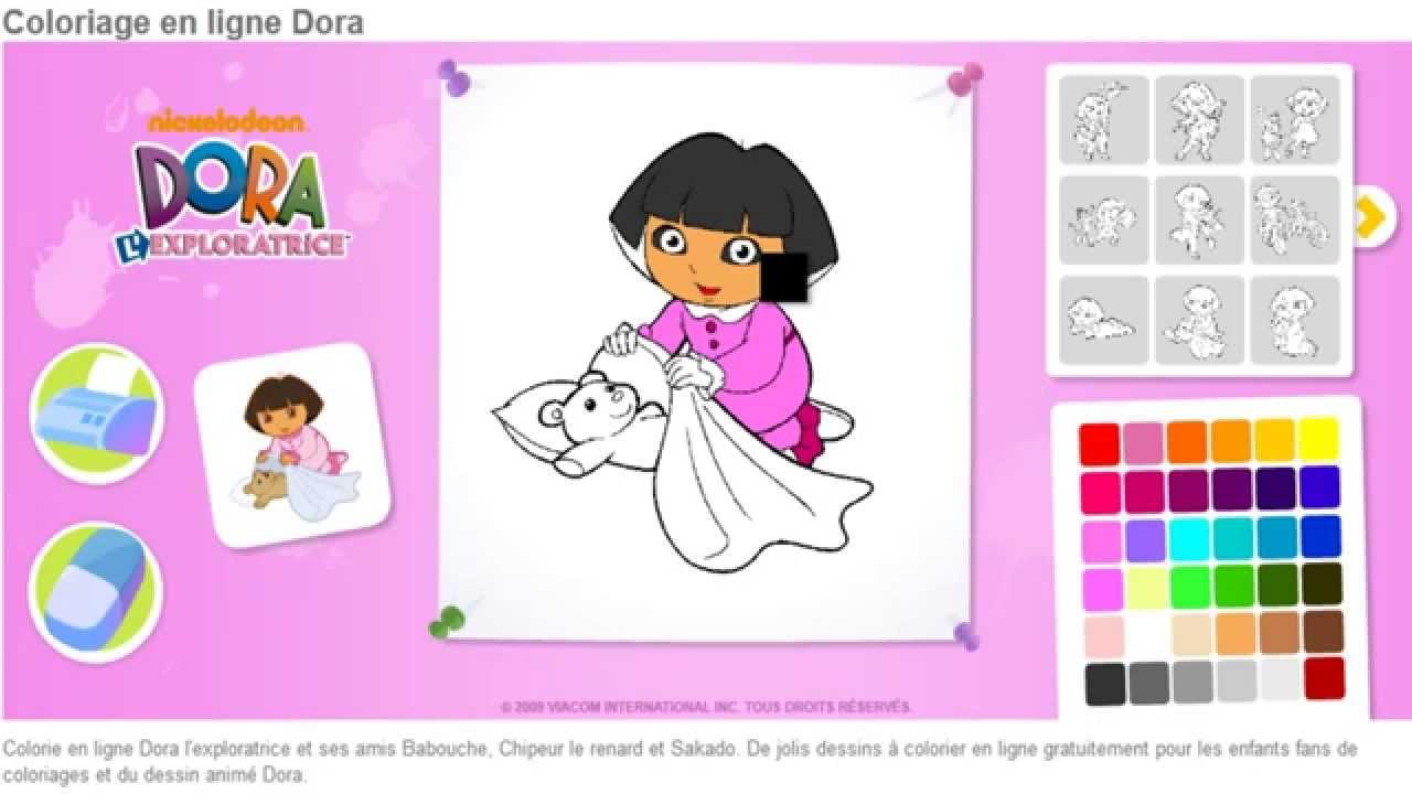 Dora Exploratrice Coloriage En Ligne Jeu Dora Enfants Hd encequiconcerne Jeux Gratuit De Dessin A Colorier