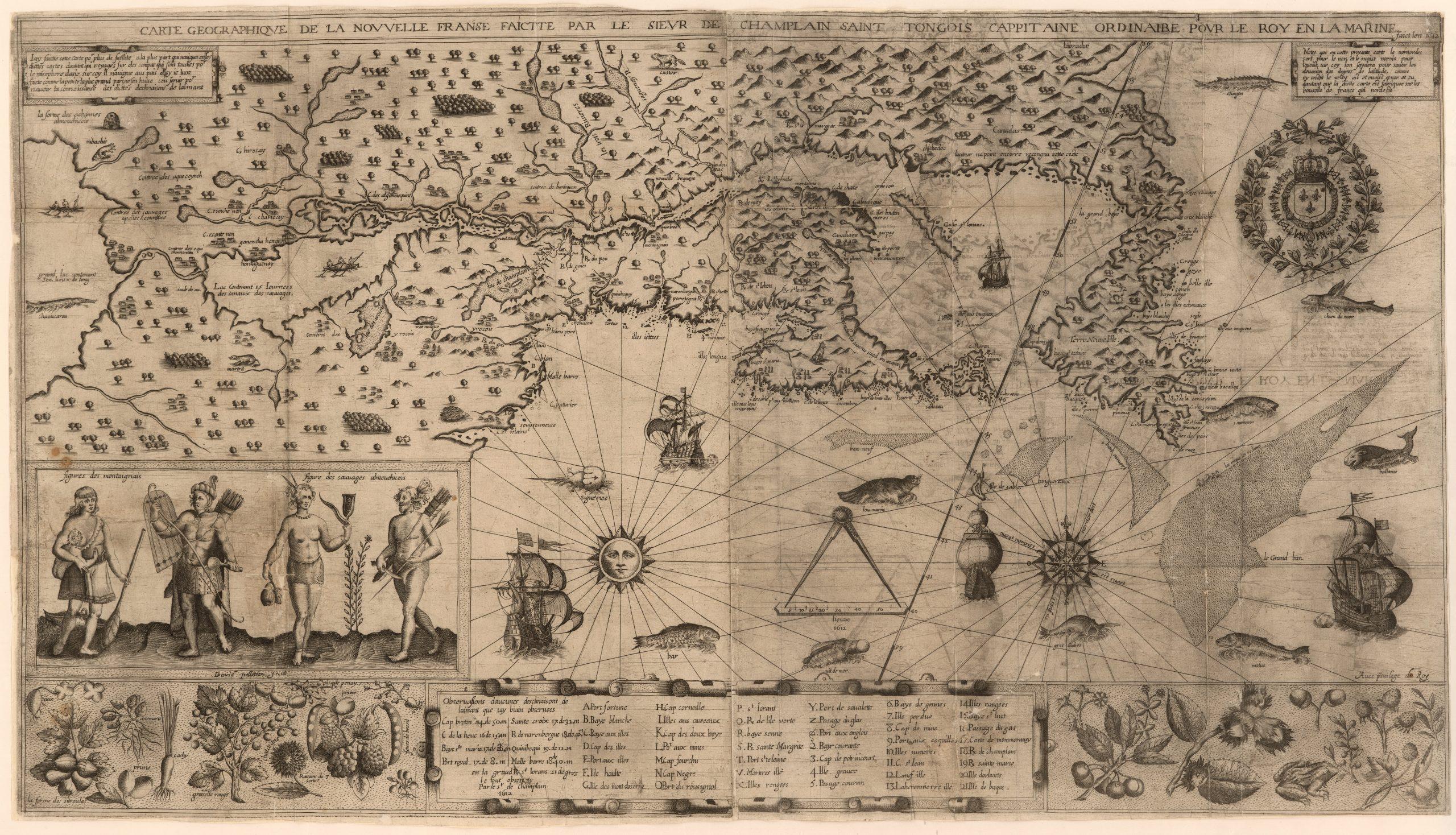 Dosya:samuel De Champlain Carte Geographique De La Nouvelle concernant Carte Géographique De France